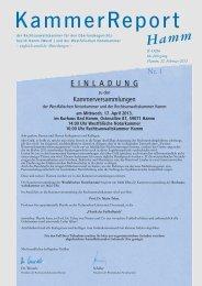 Einladung zur Kammerversammlung der Westfälischen Notarkammer
