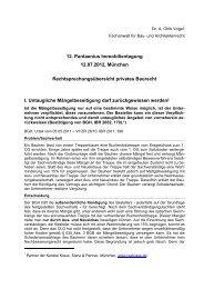 12. Pantaenius Immobilientagung 12.07.2012 ... - Pantaenius.eu