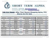 Download a PDF version of this report - Short Term Alpha