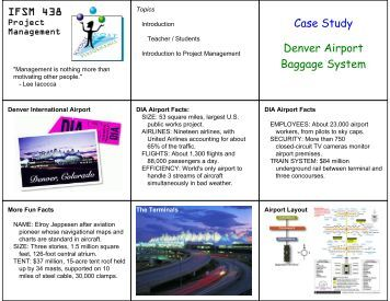 case study on d i a baggage handling system essay British airways case study  baggage handling system  british airways case study essay part 5: controlling chapter 13.