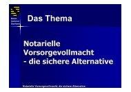 Notarielle Vorsorgevollmacht, die sichere Alternative