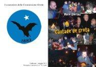 cantade de grota - Commissione Grotte Eugenio Boegan