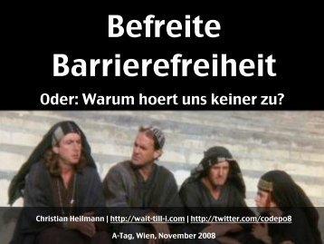 Befreite Barrierefreiheit Präsentation