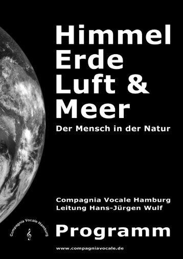 CV Programm 2010 - Compagnia Vocale Hamburg