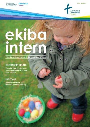 Mitarbeitendenzeitschrift Ekiba Intern / März / Ausgabe 02/2013