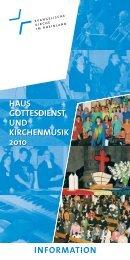Informations-Flyer zum Haus Gottesdienst und - Ekir-Pop
