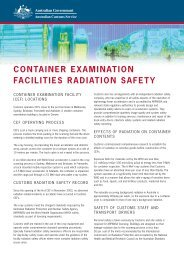 Container Examination facilities radiation safety - Australian ...