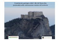 Il patrimonio geologico della Valle del Marecchia - Comune di San ...