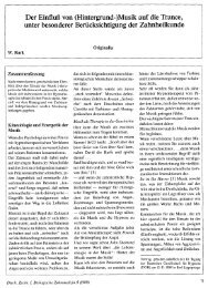 Musik auf die Trance - Dr. med. dent. Wolfgang Burk, Privatpraxis für ...