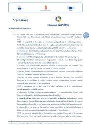 Segédanyag - Mi vagyunk Európa!