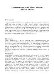 Diario di Mirco Nardini - Parco del Frignano