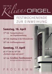 Schrift zur Orgelweihe - Orgelbau Kuhn AG
