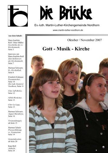 Oktober-November 2007 - Lutherisch in Nordhorn