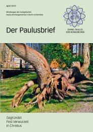 April 2013 - Ev. Paulusgemeinde Lichterfelde