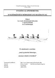 Módszertani segédanyag 2 - Magyar Evezős Szövetség