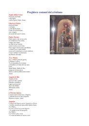 Preghiere comuni del cristiano - Associazione Pro Loco F. Durante