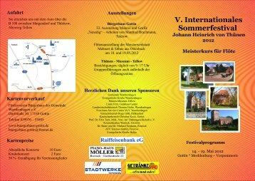 V. Internationales Sommerfestival - Karsten Henschel