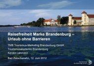 Brandenburg Barrierefrei - Tourismusverband Nordsee eV