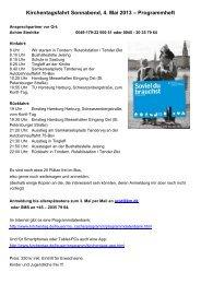 Kirchentagsfahrt Sonnabend, 4. Mai 2013 ... - Tønder Kristkirke