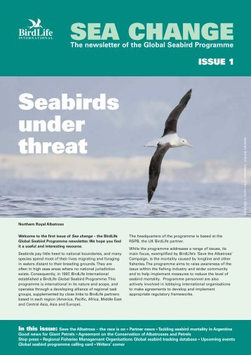 Sea Change, Issue 1 (PDF, 280 KB) - BirdLife International