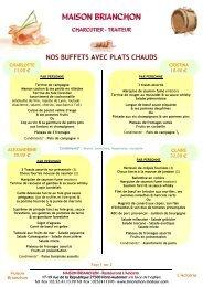 nos buffets avec plats chauds - Maison Brianchon