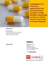Assessment Report On Free Drugs Department Of Health Family