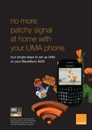how to set up UMA on your BlackBerry 8520 - EE