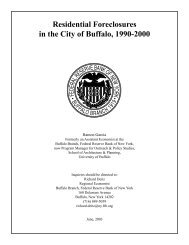 Residential Foreclosures in the City of Buffalo, 1990-2000 - Federal ...