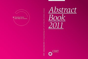 Abstract Book 2011 - CIMT Annual Meeting 2013