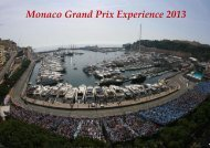 Monaco Grand Prix Experience 2013 - High quality service for high ...