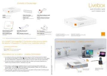 install your sagem livebox 2 assistance orange. Black Bedroom Furniture Sets. Home Design Ideas