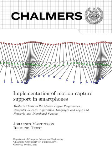 Implementation of motion capture support in smartphones