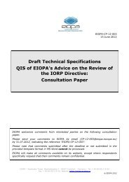 EIOPA-CP-12-003-Draft technical specifications ... - Eiopa - Europa