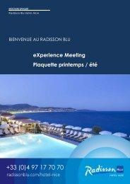 BROCHURE BANQUET Printemps Ete FR - Radisson Blu