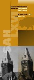 SAH Conference Program - Society of Architectural Historians