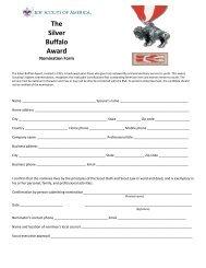 The Silver Buffalo Award - Boy Scouts of America