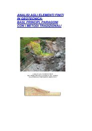 ANALISI AGLI ELEMENTI FINITI IN GEOTECNICA: BASI ... - Terrain.it