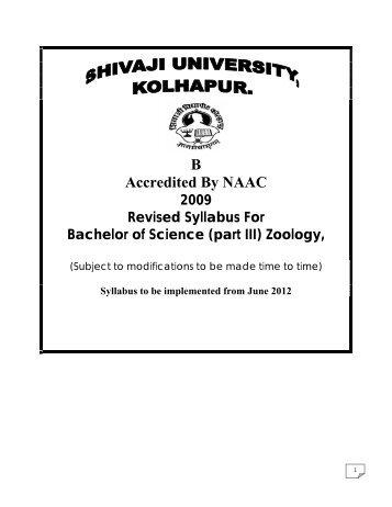 Zoology - Shivaji University