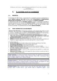 1. il sistema visti di schengen - Promozione e sviluppo Italia - Albania