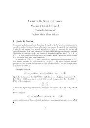 Cenni sulla Serie di Fourier - DEI