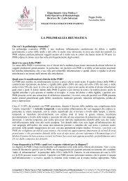 Polimialgia reumatica - Arcispedale Santa Maria Nuova