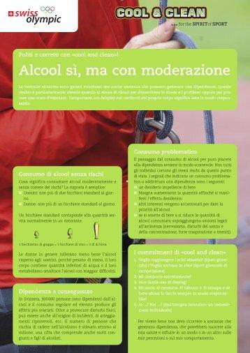 """Foglio informativo """"Alcool si ma con moderazione"""" - Cool and Clean"""