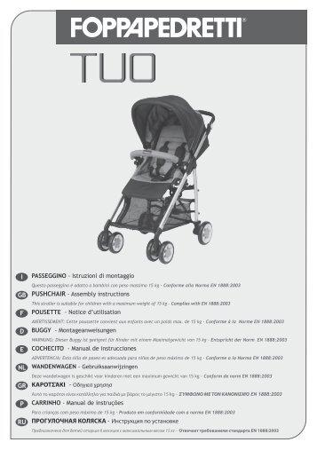 PASSEGGINO - Istruzioni di montaggio PUSHCHAIR ... - Babyzone