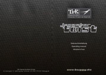 Gebrauchsanleitung Operating manual Istruzioni d'uso - TfK