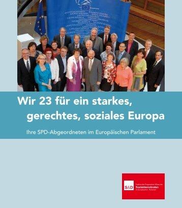 Wir 23 für ein starkes, gerechtes, soziales Europa - Jens Geier