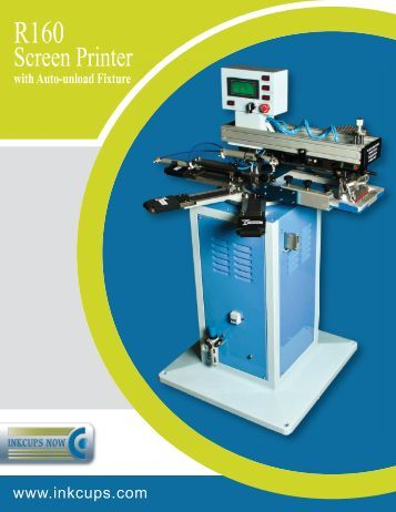 R160 1-color Screen Printer with Auto-Unload Module for Can Coolers