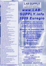 Fachvorträge auf der LAB-SUPPLY 2009 Euregio ... - infochroma.ch