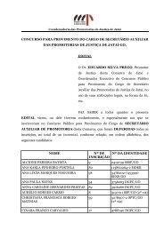 CONCURSO PARA PROVIMENTO DO CARGO DE SECRETÁRIO ...