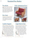 Imperial Pew Catalog - Imperial Woodworks, Inc. - Page 4
