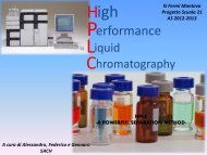 high performance liquid cromatografy - Scuola21 - Fermi